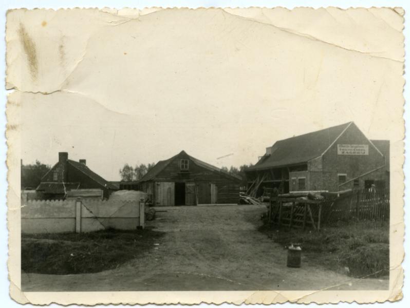 Eerste gebouwen zagerij De Spiegelaere, Knesselare, voor 1940