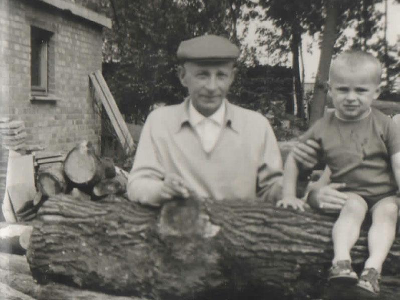 Grootvader Albert met kleinzoon Lieven